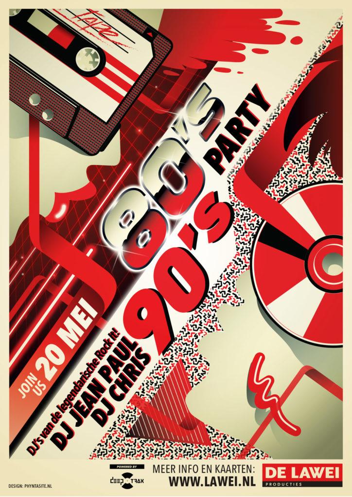 De Lawei Poster 80's 90's Party
